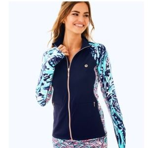 NWT Lilly Pulitzer LUXLETIC KAPRI PIECED JACKET